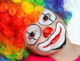 Cclorful young clown