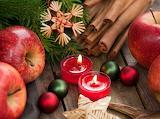Manzanas, canela y velas