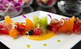 Candied Ginger and Fruit Plate