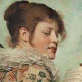 """Angèle Dubos,  """"La Nouvelle Chanson"""", 1879 (détail)"""