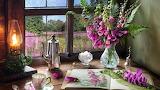 Flores . café y farol