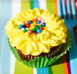 ^ Flower cupcake