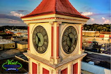 Hopkinsville Clock Tower Zoomed In