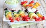 Rainbow Vegetable Skewers