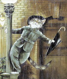 Cat Singing in the Rain
