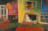"Art tumblr dogstardreamer ""The sitting room at Gilliver Avenue"""