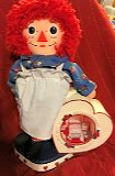 Raggedy Ann Doll with Raggedy Ann Guest Bedroom in the Heart Sha