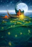 Moonlight Boat Ride by Laura Diehl