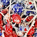 Red, White & Blue Tootsie Pops