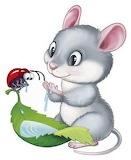 Mouse and ladybug