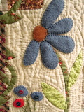 Quilted fabric flower