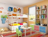 Childerns-Room-Interior-With-Rainbow-Color