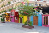 ^ Colorful houses in Mexico