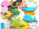 Beach cookies @ Rebecca Cakes & Bakes