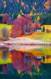 Autumn's reflection on the lake,