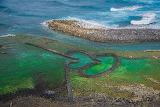 Taiwan,Îles Pescadores,Pierres empilées Cœur double