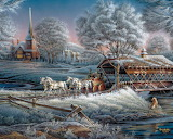 Family Outing~ winter wallpaper-1200x958