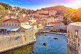 Bright sun over dubrovnik croatia