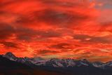 Sunset Over the San Juan Mountains Colorado USA
