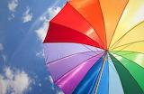 Color rainbow umbrella