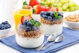 healthy food-yogurt & fruits