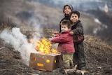 Children, smile, heat, box, fire, flame, boys, warm, kids