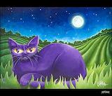 Purple night cat