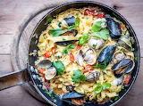 Seafood pasta...