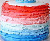 Ruffle cake @ Rose Bakes