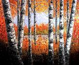 birches-forest-palette-knife-painting-georgeta-blanaru