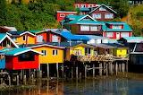 Chile, Castro, Palafito houses