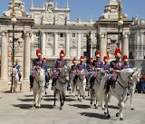 Royal palace of Madrid-group of horse guards
