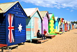 Beach Huts Dendy Street Beach Melbourne Australia