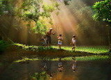 Beautiful Art with Oil Colour Thai Style 1