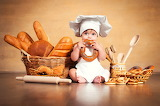 Comiendo pan