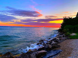 Mackinac Island Shoreline Sunset by JJ Shaffer