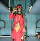 Man on a train India