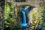 Christine Waterfall Mt Rainier National Park Washington USA