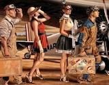 Pilot and passengers
