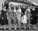 1955 Uniforms United Airlines by George Rinhart credit Huffingto