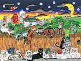 alley cats, Charles Fazzino