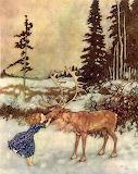 Edmund Dulac - Gerda & the reindeer