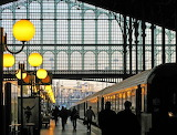 Paris, north station in the morning