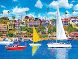 Sailboats Newport Bay