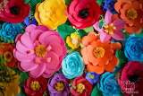 ^ Colorful paper flowers