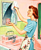 1950's Housewife Cleaning