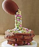 Cascading Easter egg cake