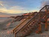 Steps to happy place at Pawleys Beach South Carolina