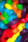 Rainbow licorice twists