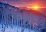 Frosty Mountain Sun Rise